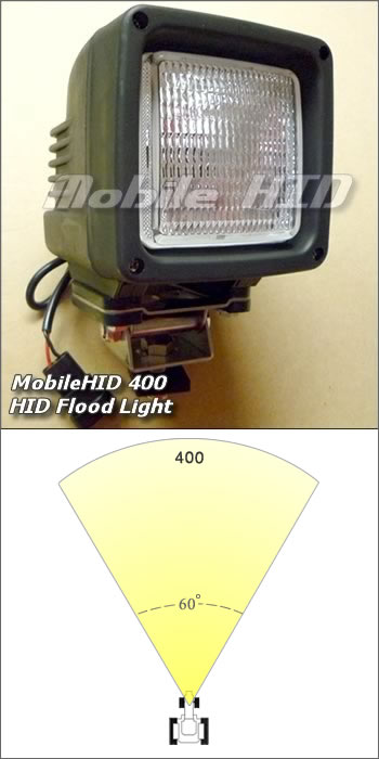400 Full Flood HID for 12v or 24v