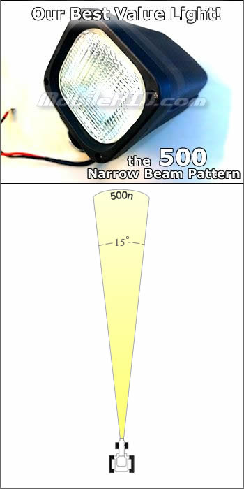 500N Narrow Beam HID for 12v or 24v