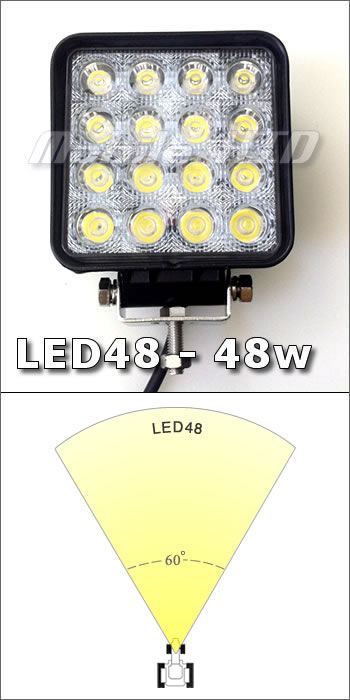 48w LED Work Light - 6 pack