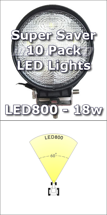 "4"" LED800 Work Light 10-pack"