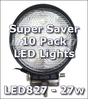 "4"" LED827 Work Light 10-pack"